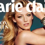 October 2012 issue Marie Claire the magazine with a video inside of it