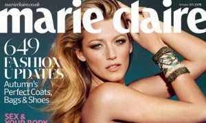 October 2012 issue Marie Claire magazine with video inside of it