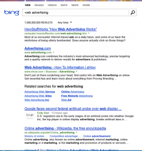 web advertising screen grab
