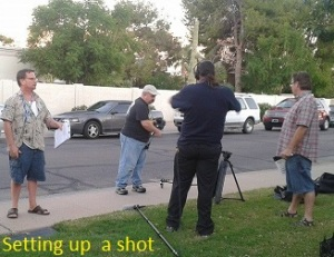 Setting up a shot